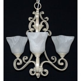 Sylvie 3 Light Ceiling Fitting with an Antique Cream finish