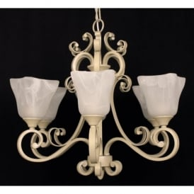 Sylvie 6 Light Ceiling Fitting with an Antique Cream finish