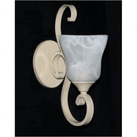 Sylvie Single Light Wall Fitting in Antique Cream Finish