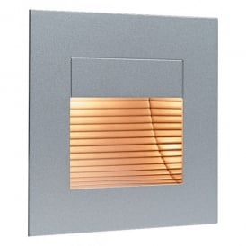 Indoor Wall & Single Step Light in Satin Steel Finish
