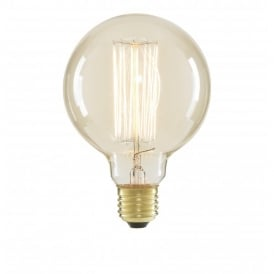 Inlight G95 Vintage Filament Globe Lamp 40w ES Clear (Dimmable)