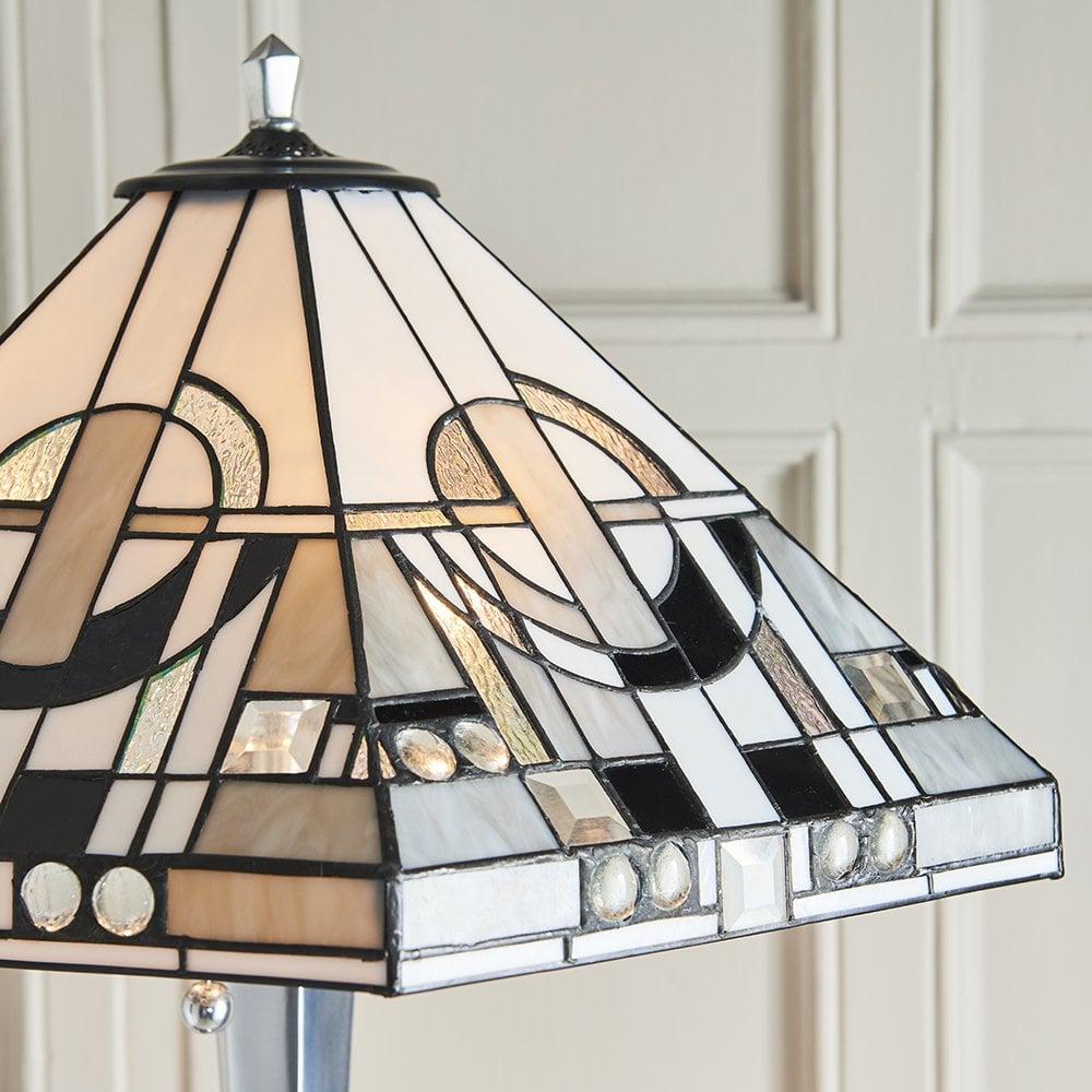 Interiors 1900 70661 Metropolitan 3 Light Floor Lamp With Monochrome Art Deco Design And Die Cast Aluminium Finish Castlegate Lights