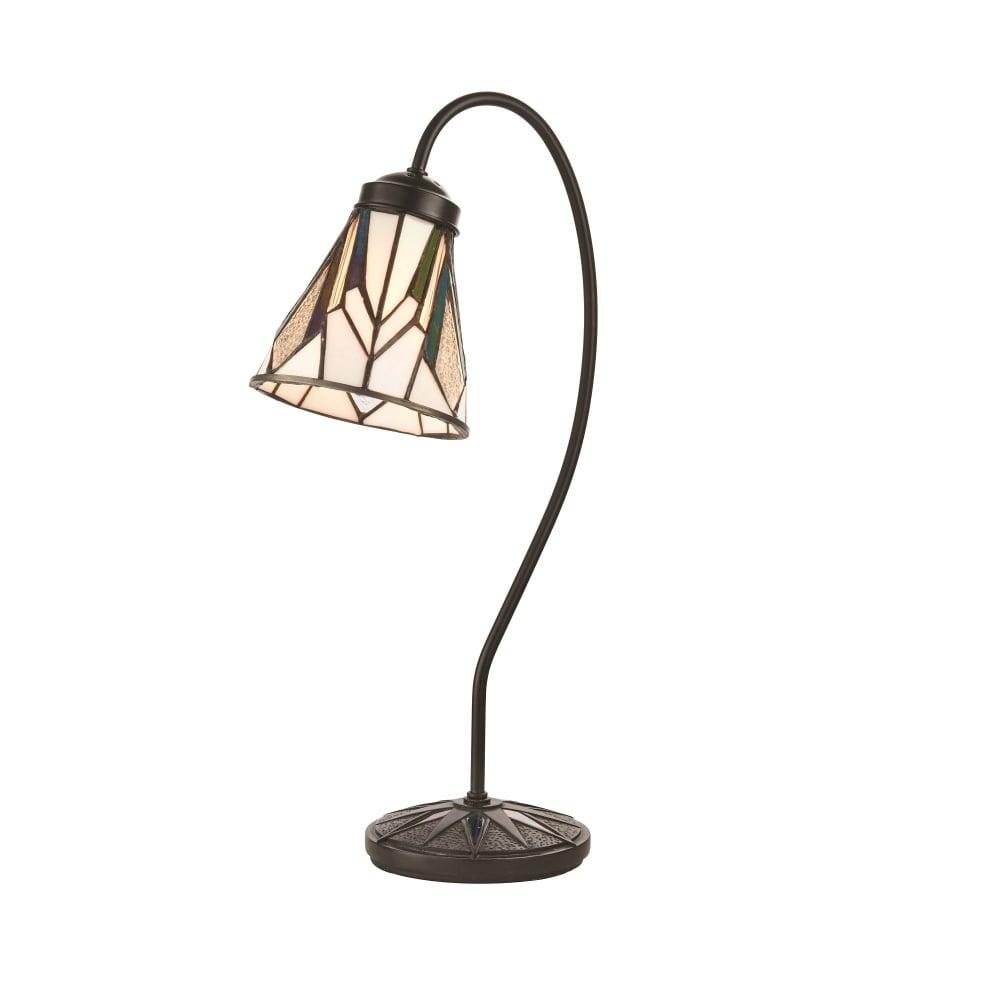 Interiors 1900 Astoria Single Light Tiffany Table Lamp In Art Deco Design