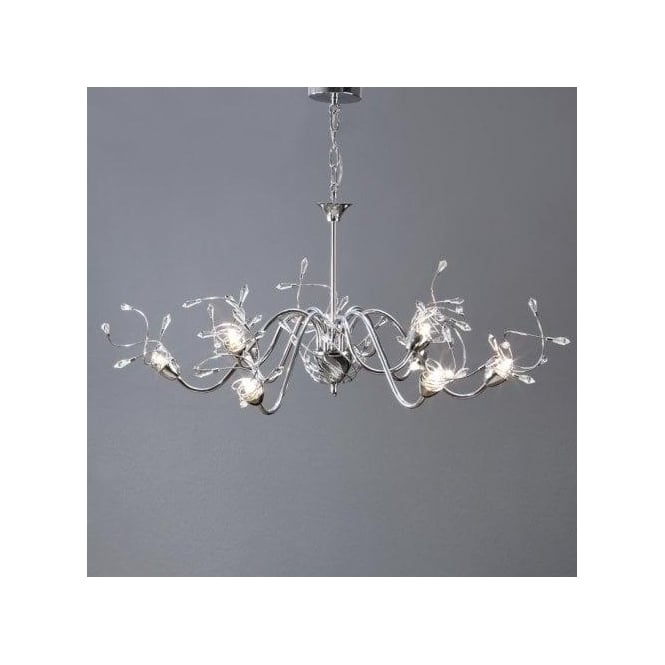 Interiors 1900 Capella 9 Light Dual Mount Fitting in Nickel with Crystal Details