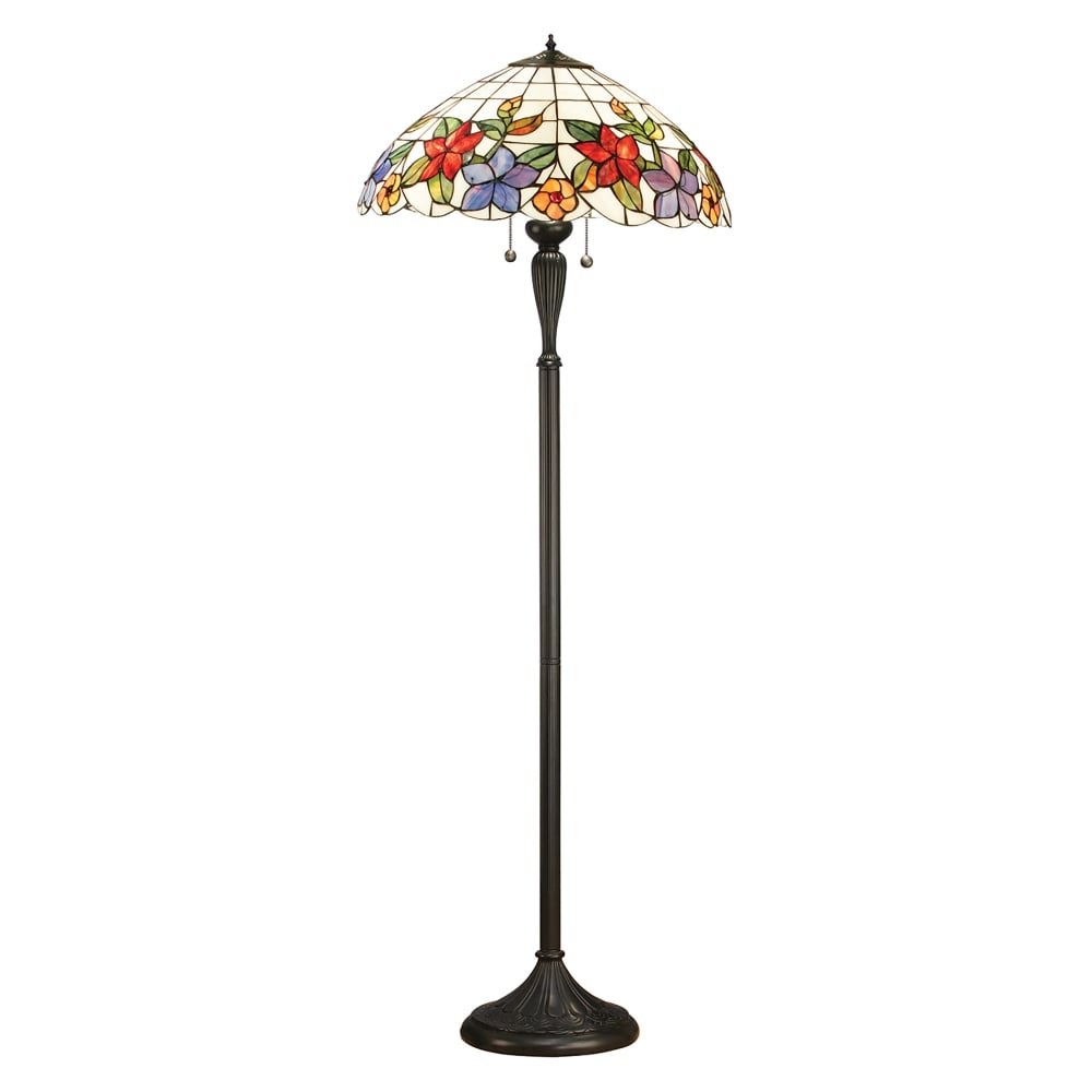 interiors 1900 country border 2 light tiffany floor lamp With tiffany floor lamp floral