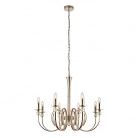 Fabia 8 Light Multi-Arm Ceiling Chandelier in Polished Nickel Finish