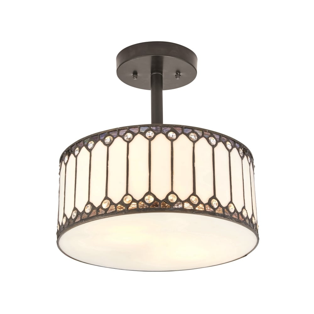 Interiors 1900 fargo 2 light semi flush ceiling light pendant in fargo 2 light semi flush ceiling light pendant in tiffany design aloadofball Gallery