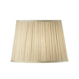 Kemp 14 Inch American Shade With Pleated Beige Faux Silk Fabric
