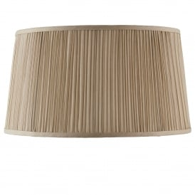Kemp 17 Inch Shade With Pleated Beige Faux Silk Fabric