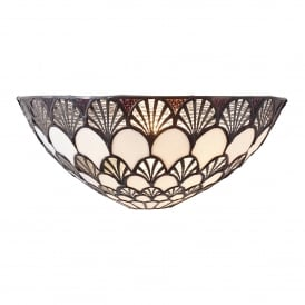 Missori Single Light Wall Fitting In Bronze Finish With Tiffany Art Deco Shade
