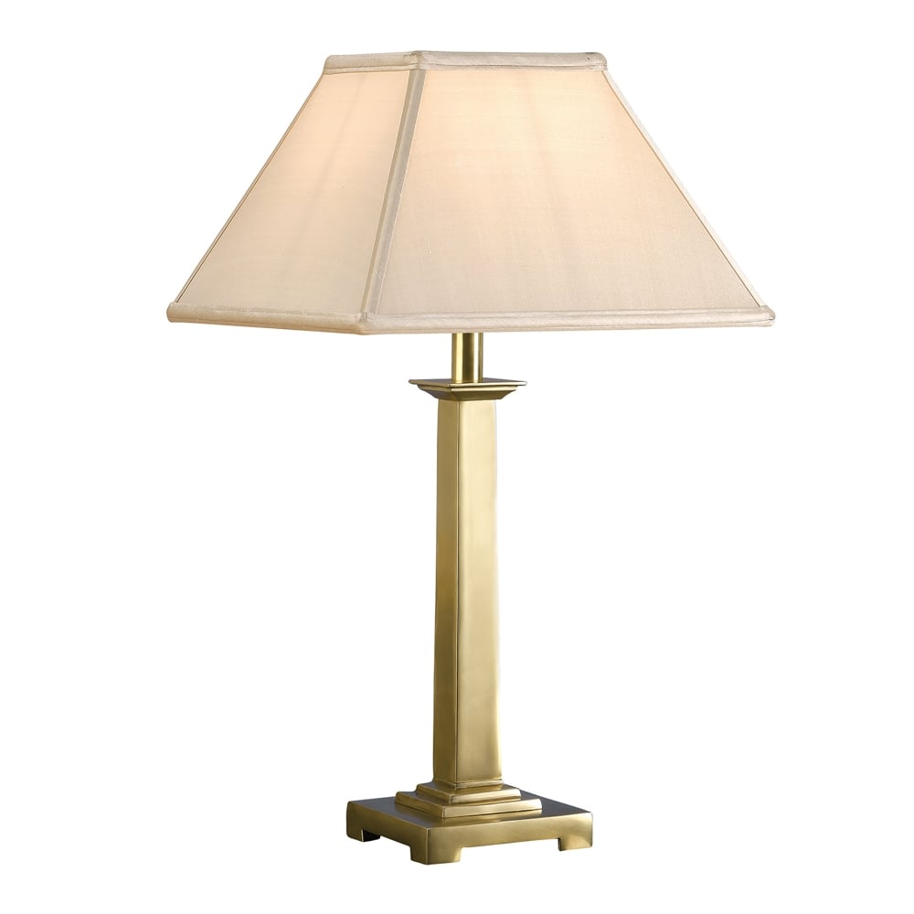 Interiors 1900 pelham single light solid brass table lamp Types of table lamps