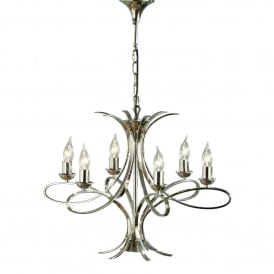 Penn 6 Light Fitting In Nickel Finish