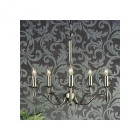Stanford 5 Light Fitting In Polished Nickel Finish