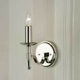 Stanford Single Light Wall Fitting In Polished Nickel Finish