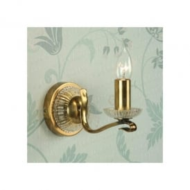 Venetia 1 Light Wall Fitting In Antique Brass Finish