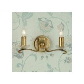 Venetia 2 light Wall Fitting In Antique Brass Finish