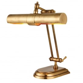 Winchester 2 Light Solid Brass Table Lamp In Mellow Brass Finish