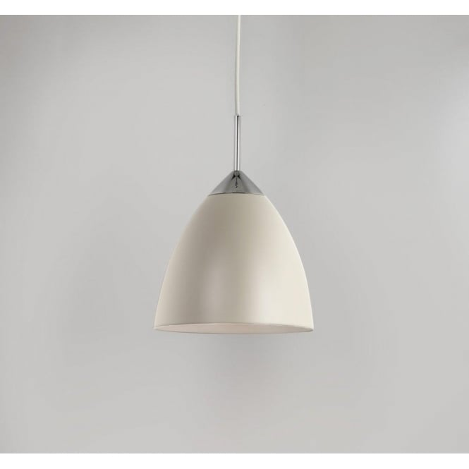 Astro Lighting Joel 270 Single Light Ceiling Pendant In Cream And Polished Chrome Finish