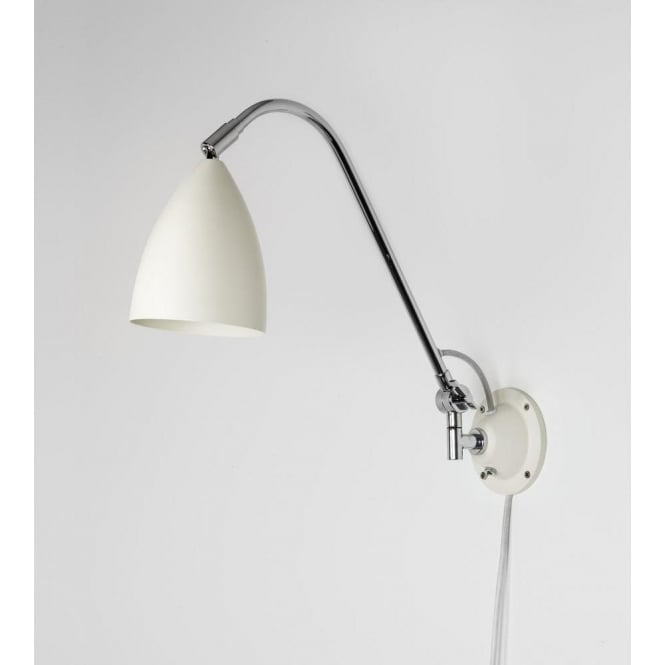 Astro Lighting Joel Grande Single Light Wall Fitting In Cream And Polished Chrome Finish