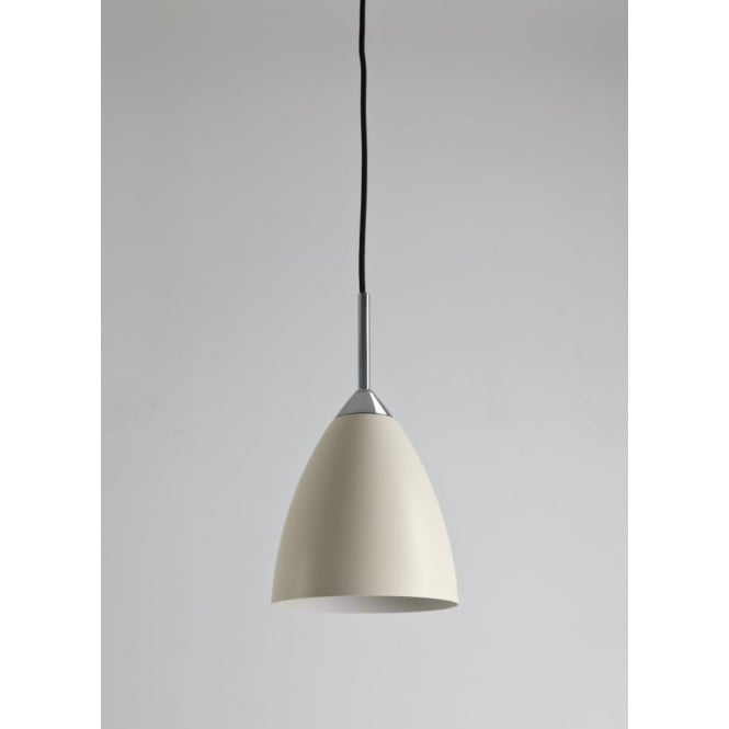 Astro Lighting Joel Single Light Ceiling Pendant in Cream Finish