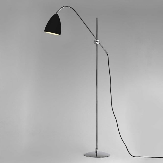 Astro Lighting Joel Single Light Floor Lamp In Black And Polished Chrome Finish