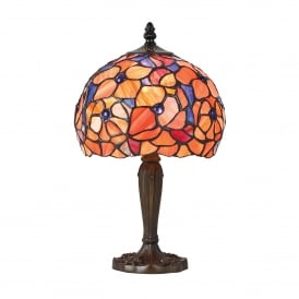 Josette Tiffany Small Single Light Table Lamp with Antique Bronze Finish