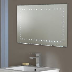 Kalamos LED Illuminated Bathroom Wall Mirror With Demister Pad & Sensor Switch