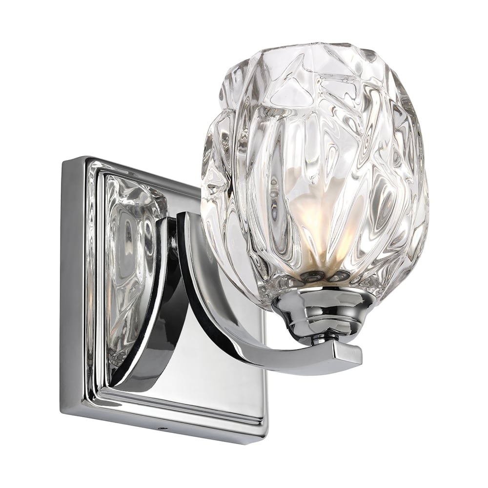 lighting type elstead lighting kalli single led bathroom wall light