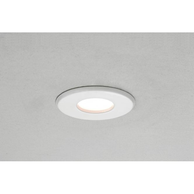 Astro Lighting Kamo LED Single Light Recessed Bathroom Ceiling Fitting In White Finish