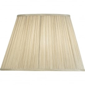 Kemp 16.5 Inch American Shade With Pleated Beige Faux Silk Fabric