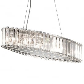 Kichler Crystal Skye 8 Light Over Island Ceiling Fitting In Crystal And Polished Chrome Finish