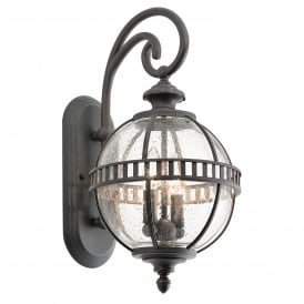 Kichler Halleron 2 Light Outdoor Wall Lantern In Londonderry Finish