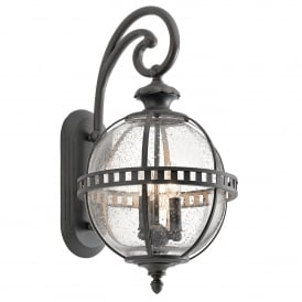 Kichler Halleron 3 Light Outdoor Wall Lantern In Londonderry Finish