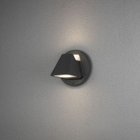 426-750 Hild 2 Light LED Outdoor Aluminium Wall Fitting in Black Painted Finish