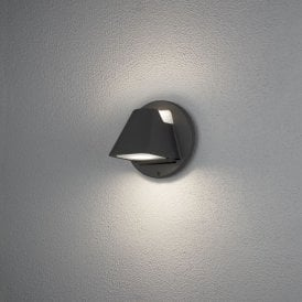 427-750 Hild 2 Light High Powered Dimmable LED Outdoor Aluminium Wall Fitting in Black Painted Finish