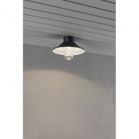 552-750 Vega High Powered LED Outdoor Ceiling Fitting in Black Finish