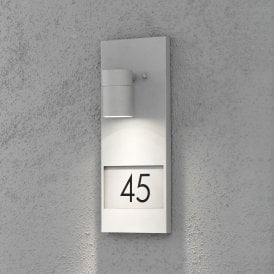 7655-300 Modena Single Light Wall Fitting with House Numbers in Painted Grey Finish
