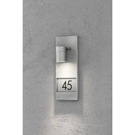 7655-320 Modena Single Light Wall Fitting with House Numbers in Galvanised Finish