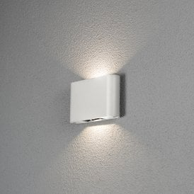7854-250 Chieri 2 Light High Powered Integrated LED Aluminium Wall Fitting in Painted White Finish