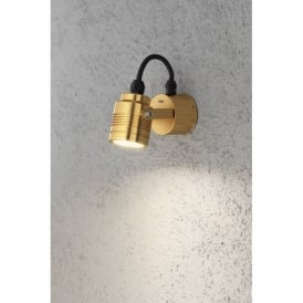 7903-800 Monza Cylindrical High Powered LED Outdoor Wall Fitting in Anodized Brass