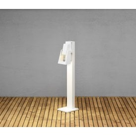 7983-250 Potenza High Powered 4w Dimmable LED Outdoor Post Light in White Painted Aluminium Finish