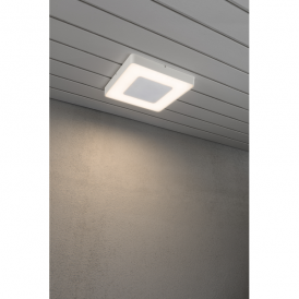 7986-250 Carrara Single Light High Powered Square Dimmable LED Wall Fitting in Aluminium