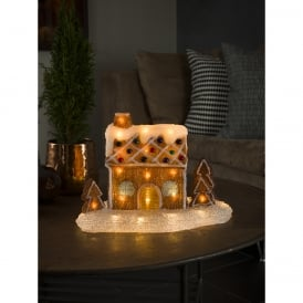 Konstsmide Acrylic Gingerbread House with 48 Warm White LED's