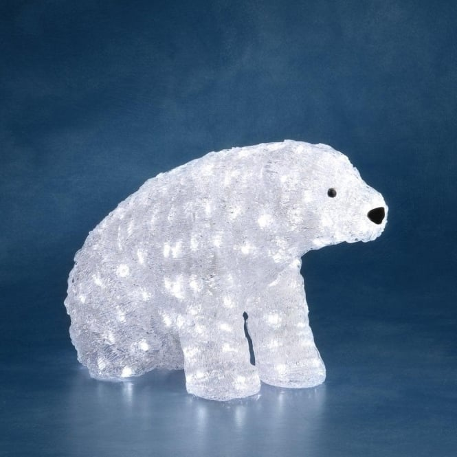 acrylic sitting outdoor polar bear with white