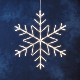 Konstsmide Acrylic Snowflake With 60 Warm White LED's