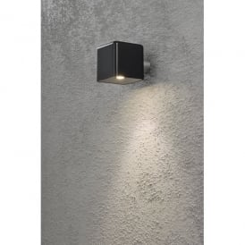 Amalfi Single LED Outdoor Wall Light in Black Finish