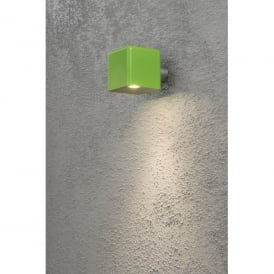 Amalfi Single LED Outdoor Wall Light in Green Finish