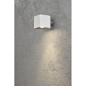 Amalfi Single LED Outdoor Wall Light in White Finish