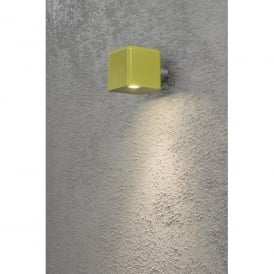 Amalfi Single LED Outdoor Wall Light in Yellow Finish