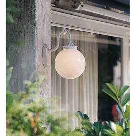 Arcturus Single Light Outdoor Wall Fitting in Matt White Finish